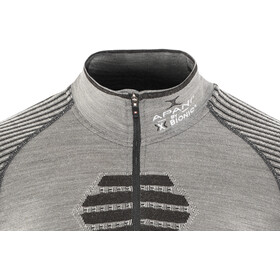 X-Bionic Apani Merino Zip Up SS Top Men, black/grey/black